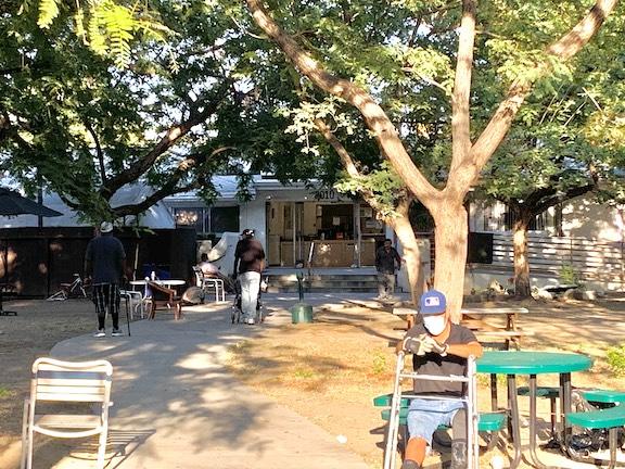 Residents of Illumination Foundation enjoying time outside by (Braylin Collins,_UT)