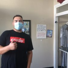 Oscar Flores is a customer at Villa Dry Cleaners in Boyle Heights